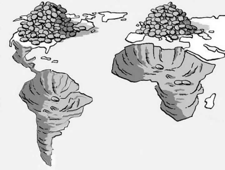 Africa and South America are NOT poor. They are just being looted by the Global North for hundreds of years