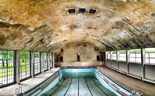 Swimming Pool from the 1936 Summer Olympics in Berlin, Germany
